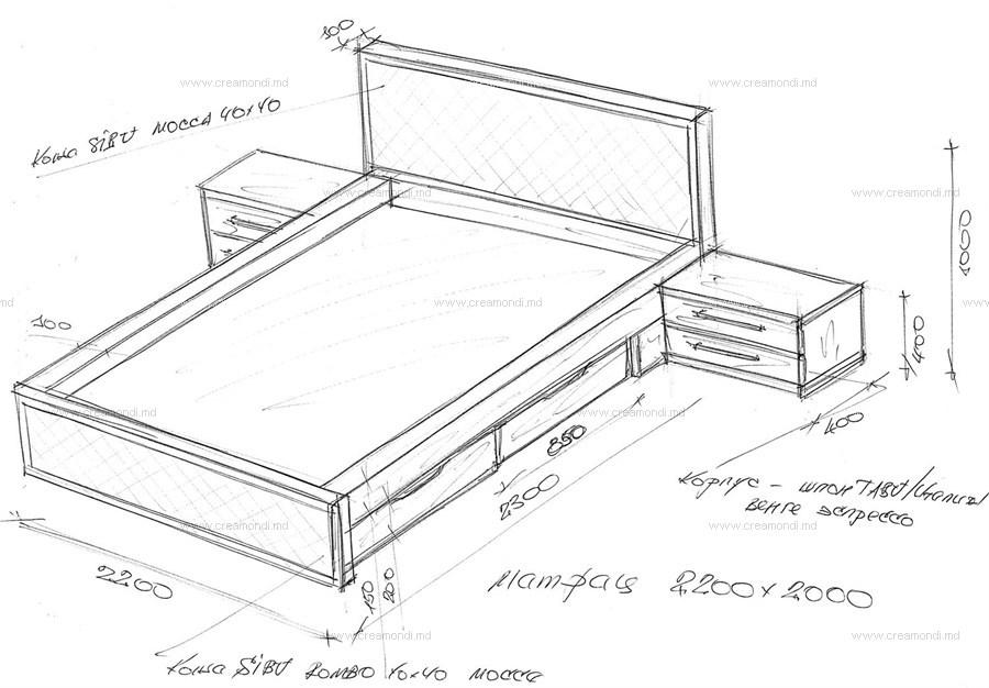 Двуспальную кровать с ящиками своими руками чертежи