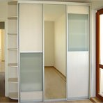 Sliding door wardrobes Light sliding door wardrobe decorated with glass and mirror panels