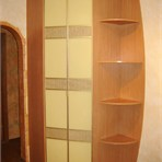 Sliding door wardrobes Utility wardrobe has very unusual shape