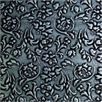 SIBU Design SIBU Leather LL FLORAL Black/Silver mat