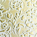SIBU Design SIBU Leather LL FLORAL White/Gold mat
